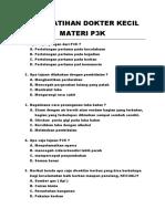 Soal Latihan Dokter Kecil Materi p3k