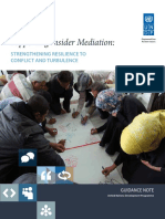 Supporting Insider Mediation Strengthening Resilience to Conflict and Turbulence EU Guidance Note
