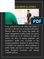 Master in Medical Ethics