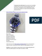 Reloj Popular Para Hombres - Rolex GMT Master II Negro y Azul