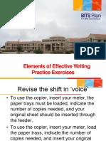 Exercise on Writing