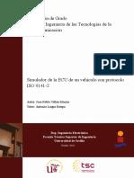 Simulador de La ECU de Un Vehículo Sobre OBDII Con Protocolo ISO 9141-2
