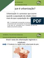 1 – O Que é Urbanização