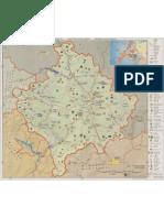 004 Harta Turistike e Kosovës me qartësi të lartë