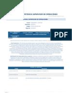 Perfil Competencia Supervisor de Operaciones