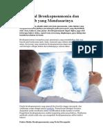 Mengenal Bronkopneumonia Dan Penyebab Yang Mendasarinya