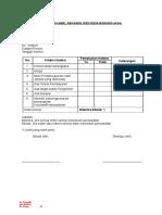 Contoh Formulir Seleksi Penyedia Barang & Jasa