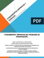 Fundamentos Empíricos y Teóricos