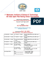 1st Mahaveer Trophy 22nd to 27th April 2017