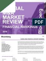 Bloomberg Global MA Financial Rankings FY 2016