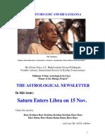 The Astrological Newsletter - Issue-24 - 2011 November 06