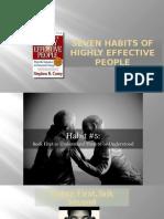 Habit 5 Seek First to Understand Then to Be Understood