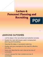 Lecture 4- Personnel Planning and Recruiting