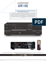 Denon AVR-1100 Pamphlet