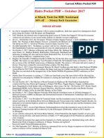 Current Affairs Pocket PDF - October 2017 by AffairsCloud