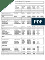 EE Dept.- FALL 2017 Midterm Exams Datesheet