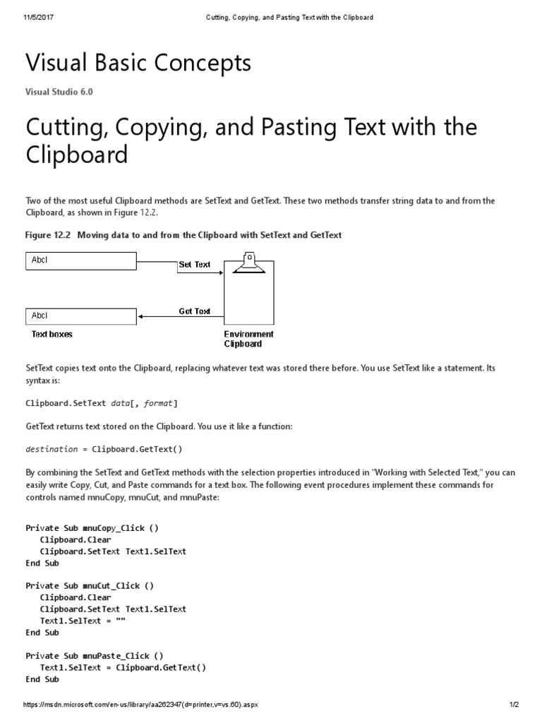 Copy-cut-paste in Vb net Windows Forms | Computer