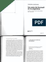 Canavese, Los Usos de Foucault (1)