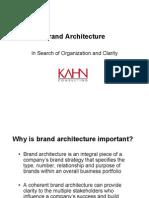 Kahn Brand Architecture