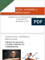 Kerlinger and Lee Cap. Constructos, Variables y Definiciones