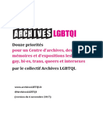 12 priorités Collectif Archives LGBTQI