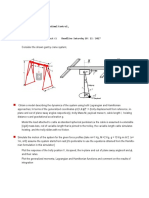 Assignment 1 Modeling and Simulation of gantry crane