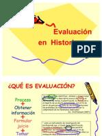 EVALUACION EN HISTORIA