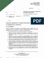 06-11-17 LEGATEC. Presidente. Requerimiento Documentación y Requerimientos
