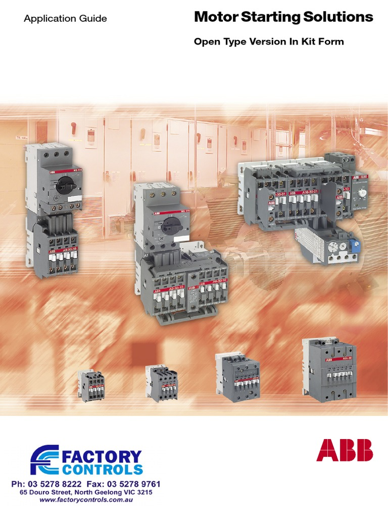 ABB Starters Details Star Delta Starting. | Relay | Fuse ... on