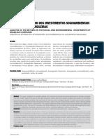 análise do retorno dos investimentos socioambientais