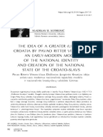 "Article ""The Idea of Greater (United) Croatia by Pavao Ritter Vitezović"