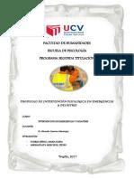 Progrma de Intervención en Emergencias y Desastres