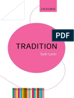 Tradition_ a Feeling for the Li - Seth Lerer