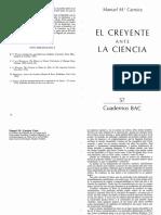 El creyente ante la ciencia_Dr Manuel María Carreira
