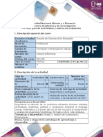 Guía de Actividades y Rúbrica de Evaluación. Paso 1. Trabajo Incial.