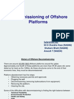 Decommissioning of Offshore Platforms