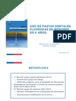 Uso Pastas Dentales Menores de 6