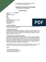 Formato Informe Psicologico Educacional
