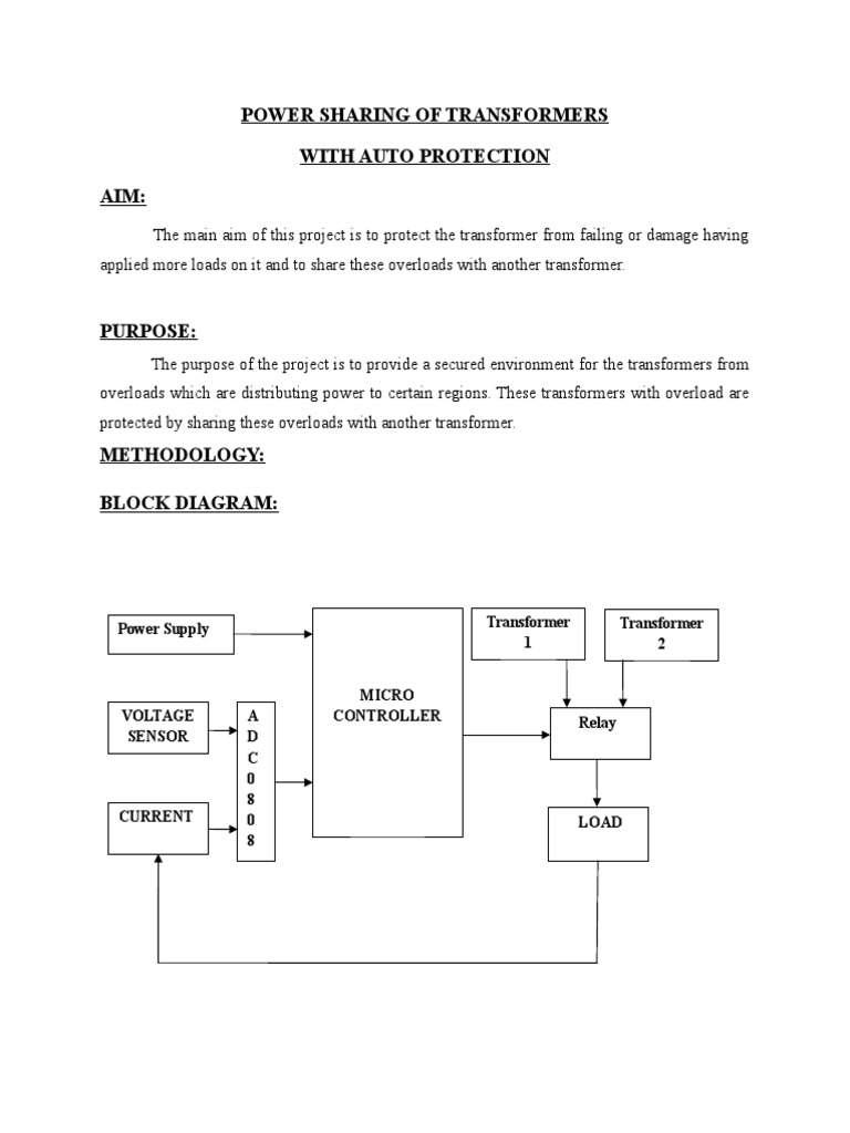 Es 127power Sharing Of Transformer With Auto Protection Block Diagram Power Supply