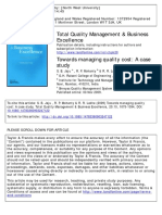 28-Toward Managing Quality Cost Case Study
