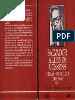 Obras Escogidas 1933-1948 Salvador Allende Gossens