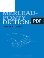 Dictionary Merleau Ponty