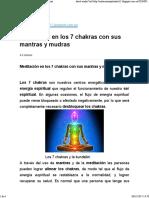 Meditación en Los 7 Chakras Con Sus Mantras y Mudras