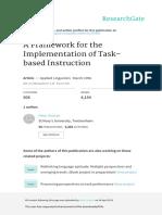 A Framework for the Implementation of Task-based Instruction