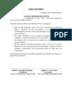 Carta Notariales a Los Socios