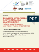 Programa II Coloquio Internacional de Antiimperialismo en AL