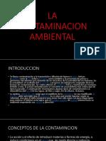 La Contaminacion Ambiental Ppt