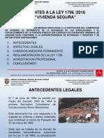 Aspectos Ley Vivenda Segura 1796 2016