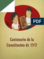 Centenario de la constitución de 1917
