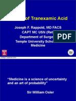 Effects of Tranexamic Acid - Joseph Rappold